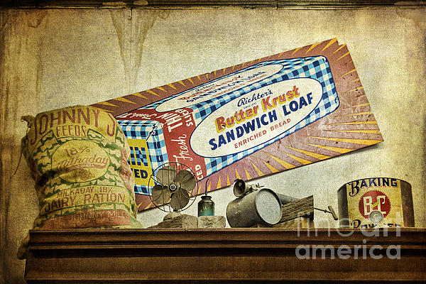 Camp Verde Texas General Store Print by Priscilla Burgers