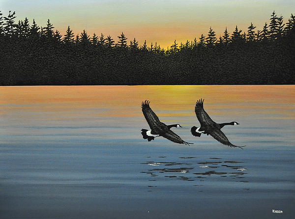 Canada Geese Print by Kenneth M  Kirsch