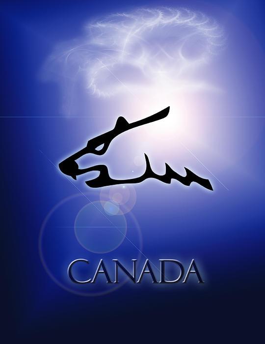 Canada Polar Bear Print by George Fagnan