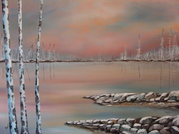 Canadian Northern Reflections Print by Beverly Livingstone
