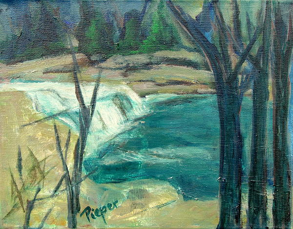Canajoharie Creek Near Village Print by Betty Pieper