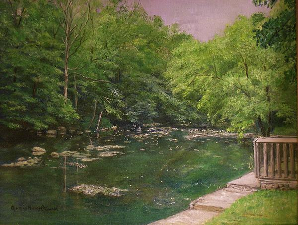 Canal At Prallsville Mills Print by Aurelia Nieves-Callwood