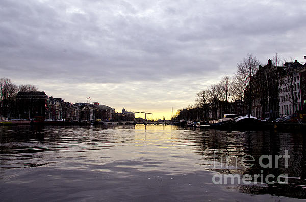 Canals Of Amsterdam Print by Pravine Chester