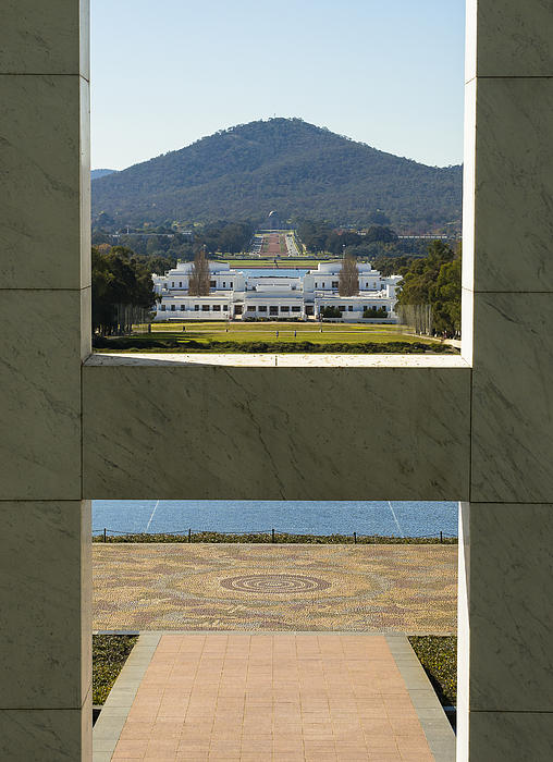 Canberra - Parliament House View Print by Steven Ralser