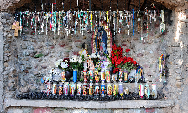 Candels And Rosaries Print by Carla P White