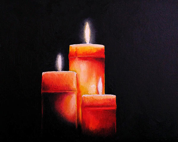 Candle light by sean afford for Candle painting medium