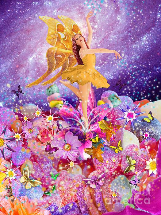 Candy Sugarplum Fairy Print by Alixandra Mullins