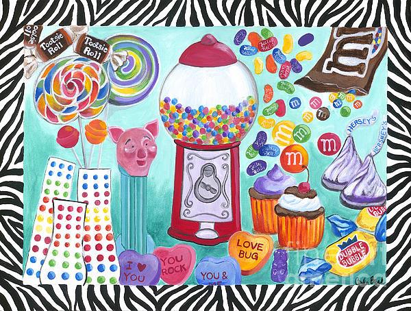 Candy Window Print by Carla Bank