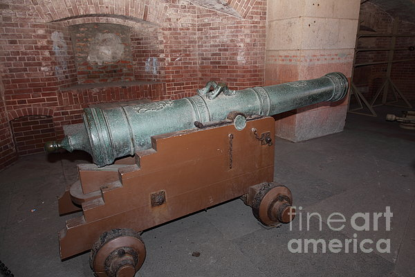 Cannon At San Francisco Fort Point 5d21503 Print by Wingsdomain Art and Photography