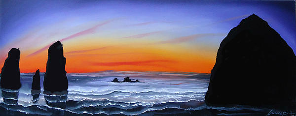 Cannon Beach At Sunset 16 Print by James Dunbar