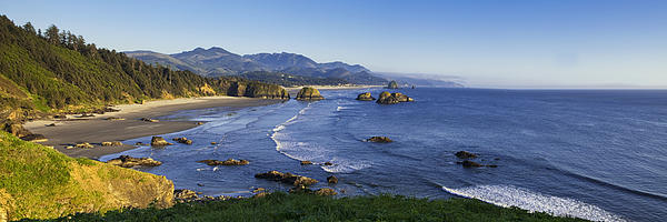 Cannon Beach Panorama Print by Andrew Soundarajan