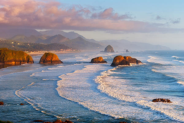 Cannon Beach Sunset Print by Darren  White