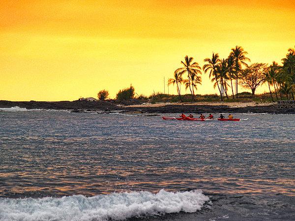 Athala Carole Bruckner - Canoe On Kona Coast