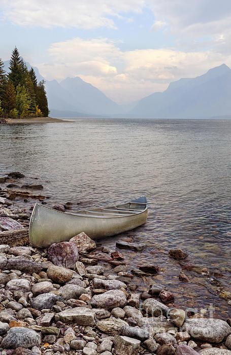 Jill Battaglia - Canoe on Rocky Shore