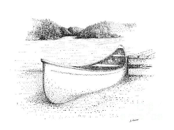 Canoe On The Beach Print by Steve Knapp