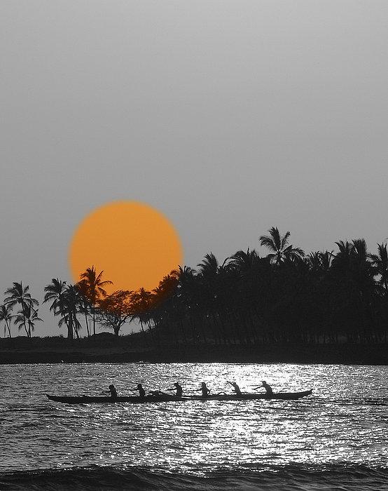 Athala Carole Bruckner - Canoe Ride In The Sunset