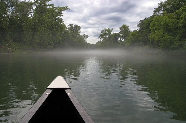 Canoeing The Ozarks Print by Adam Romanowicz