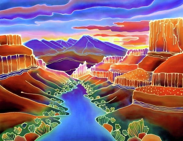 Canyon Sunrise Print by Harriet Peck Taylor