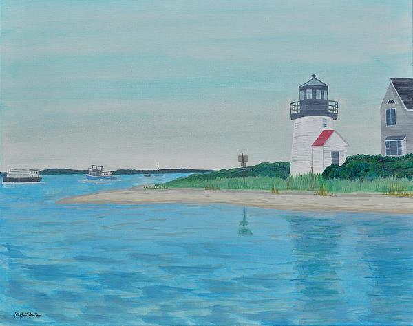 Cape Cod Chatham Lighthouse Print by Sally Rice