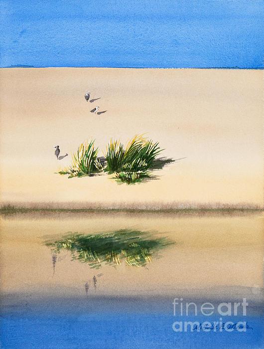 Cape Dune Watercolor Print by Michelle Wiarda