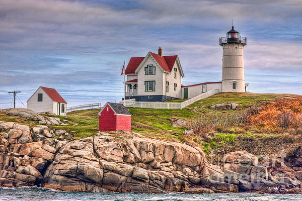 Cape Neddick Nubble Lighthouse II Print by Clarence Holmes