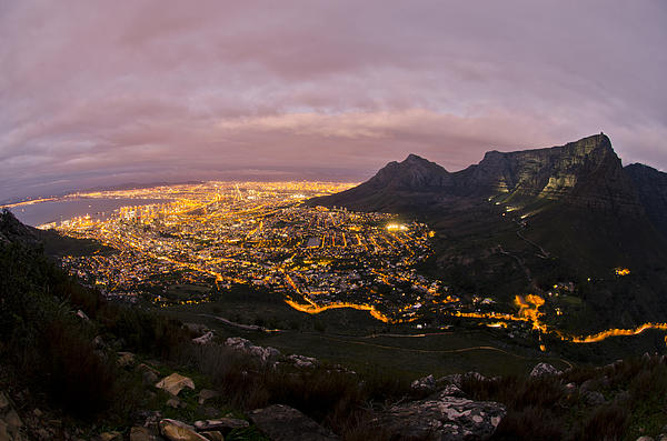 Cape Town Nights Print by Aaron S Bedell