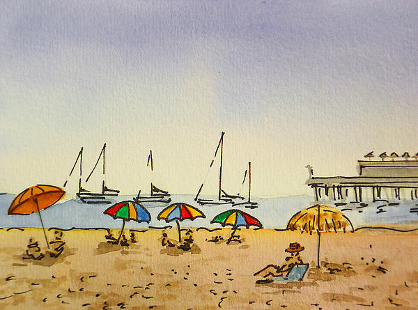 Capitola - California Sketchbook Project  Print by Irina Sztukowski