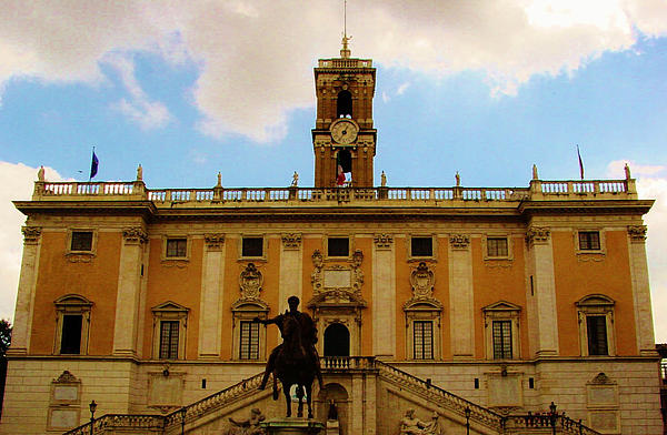 Capitoline Hill In Rome by Thomas Preston