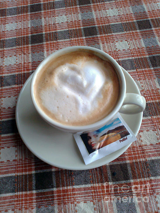 Cappuccino Love Print by Ausra Paulauskaite