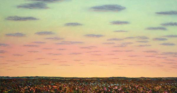 Caprock Sunrise Print by James W Johnson