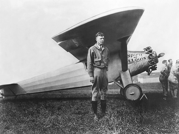 Captain Charles Lindbergh Print by Underwood Archives