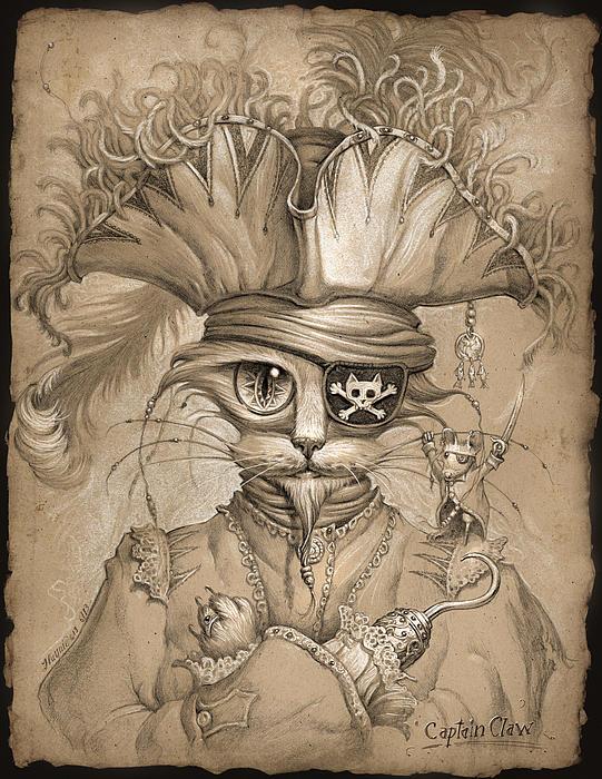 Captain Claw Print by Jeff Haynie
