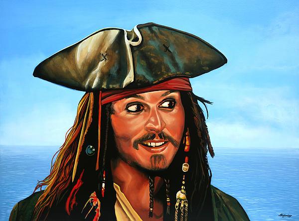 Captain Jack Sparrow Print by Paul  Meijering