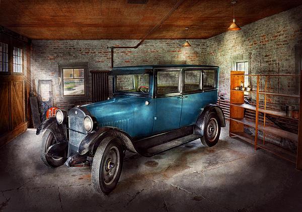 Car - Granpa's Garage  Print by Mike Savad