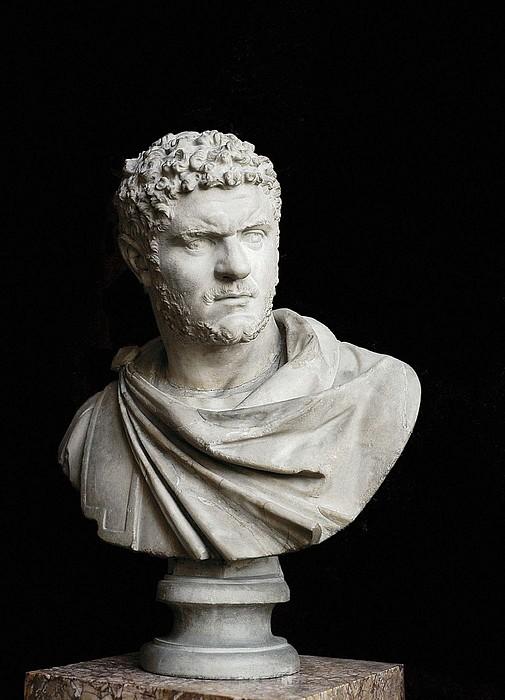 Caracalla. 212 - 217. Bust. Sculpture Print by Everett