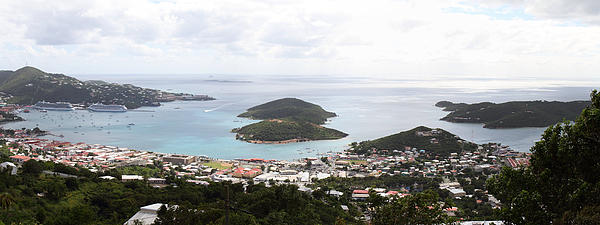 Caribbean Cruise - St Thomas - 12124 Print by DC Photographer