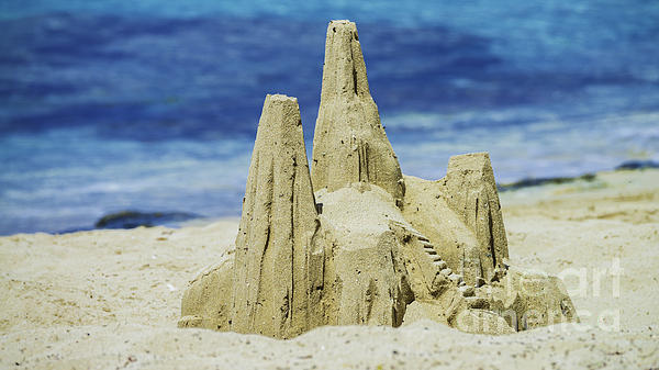 Caribbean Sand Castle  Print by Betty LaRue