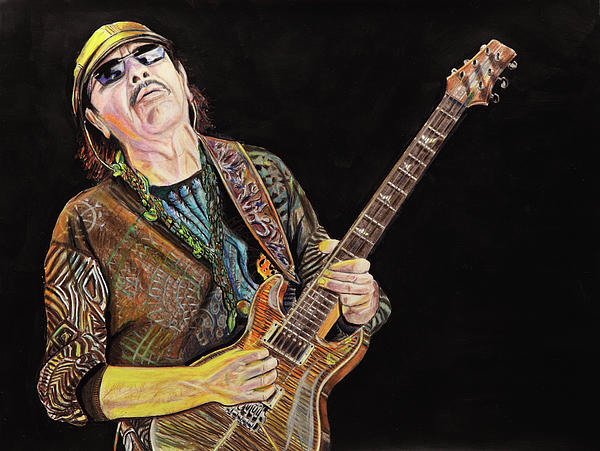 Carlos Santana Print by Chris Benice