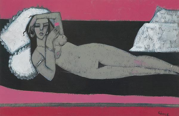 Carmena Resting Print by Endre Roder
