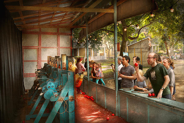 Carnival - Game - A Game Of Skill  Print by Mike Savad