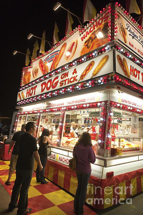 Carnival Hot Dog On A Stick Print by Jason O Watson