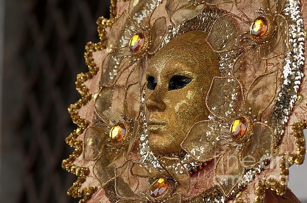 Carnival In Venice 8 Print by Olia Saunders