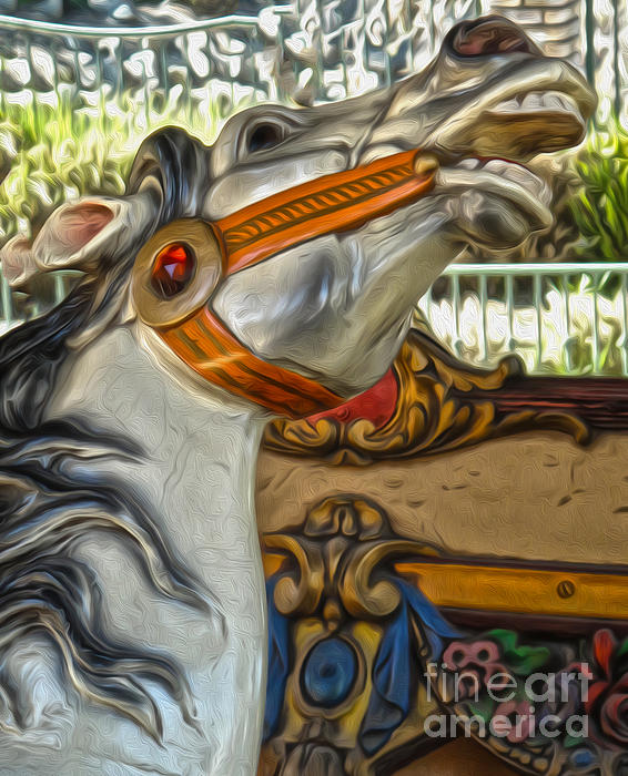 Carousel Horse - 01 Print by Gregory Dyer