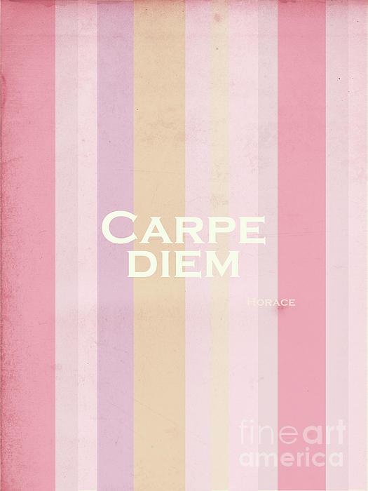 Carpe Diem Series - Horace Print by Andrea Anderegg