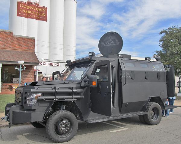 Carrollton Texas Police Vehicle Print by Donna Wilson