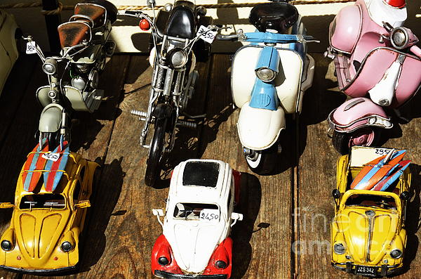 Cars Model For Sale Displayed At Store Print by Sami Sarkis