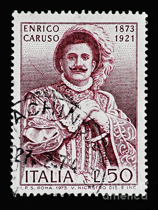 Caruso Print by Andy Prendy