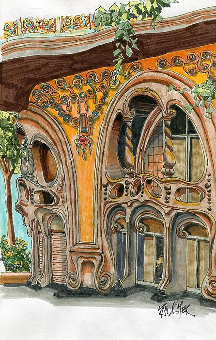 Casa Comolat Barcelona Spain Print by Paul Guyer