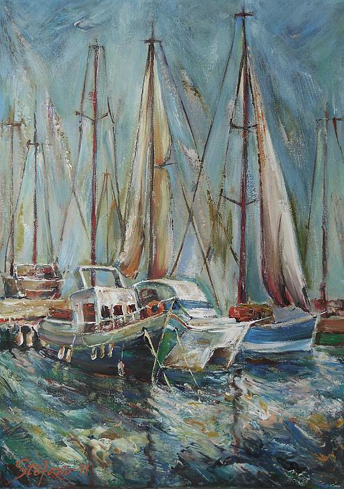 Castellon The Port Print by Stefano Popovski