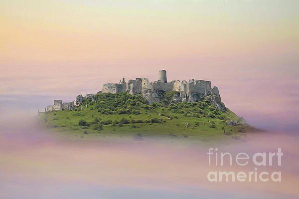 Castle In The Air. - Spis Castle Print by Martin Dzurjanik